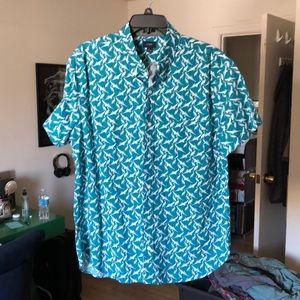 J.Crew NWT Men's Button Down Short Sleeve Shirt XL